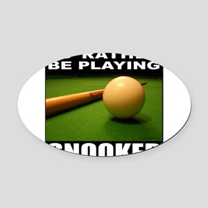 SNOOKER Oval Car Magnet