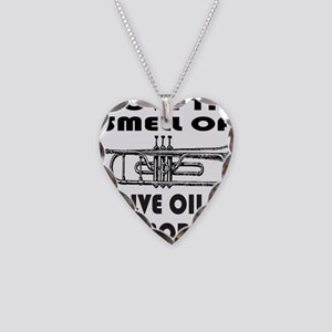 TRUMPET PLAYER Necklace Heart Charm