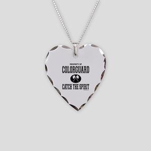 COLORGUARD SPIRIT Necklace Heart Charm