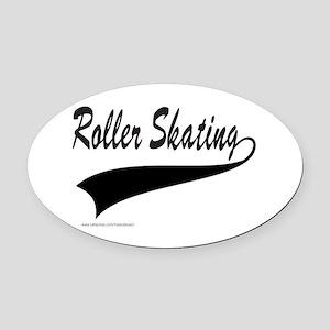 ROLLER SKATING Oval Car Magnet
