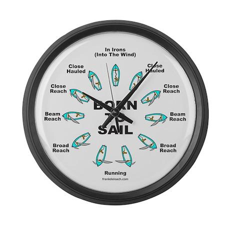 BORN TO SAIL Large Wall Clock