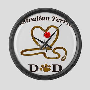 AustralianTerrierDad Large Wall Clock