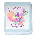 Luoyang China Map baby blanket