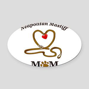 NEAPOLITAN MASTIFF Oval Car Magnet