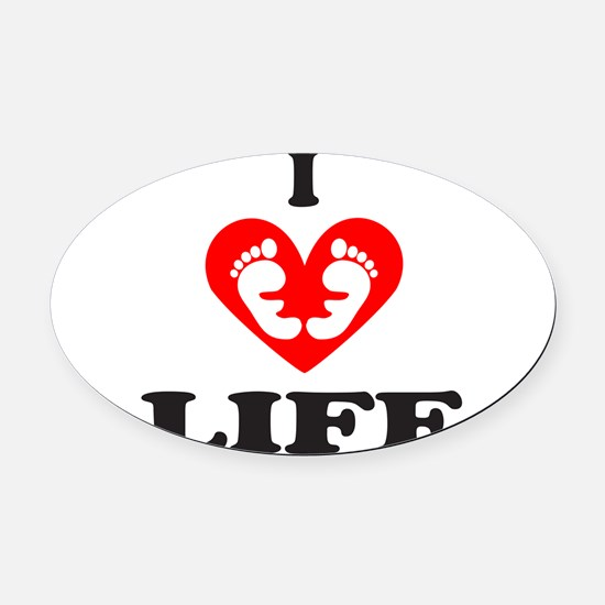 PRO-LIFE/RIGHT TO LIFE Oval Car Magnet