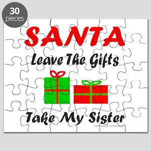 SANTA TAKE MY SISTER Puzzle