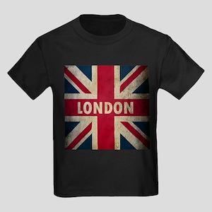 Vintage Union Jack Kids Dark T-Shirt