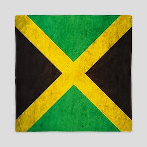 Vintage Jamaica Flag Queen Duvet