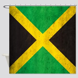 Vintage Jamaica Flag Shower Curtain