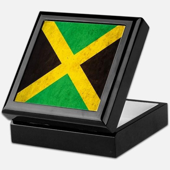 Vintage Jamaica Flag Keepsake Box