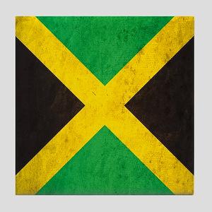 Vintage Jamaica Flag Tile Coaster