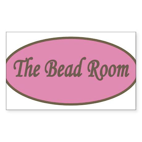 The Bead Room Logo Sticker (Rectangle)