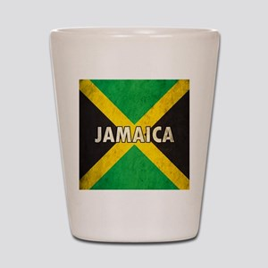 Jamaica Grunge Flag Shot Glass