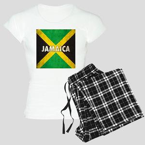Jamaica Grunge Flag Women's Light Pajamas