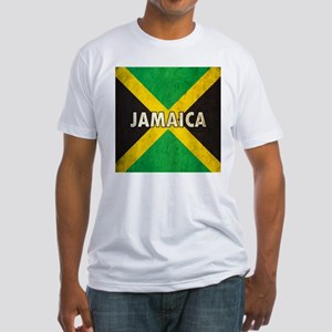 Jamaica Grunge Flag Fitted T-Shirt