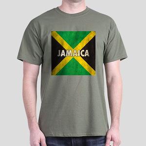 Jamaica Grunge Flag Dark T-Shirt