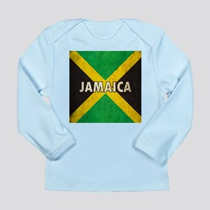 Jamaica Grunge Flag Long Sleeve Infant T-Shirt