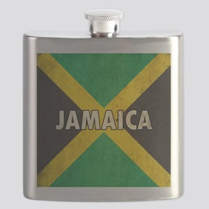 Jamaica Grunge Flag Flask
