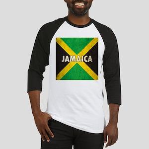 Jamaica Grunge Flag Baseball Jersey