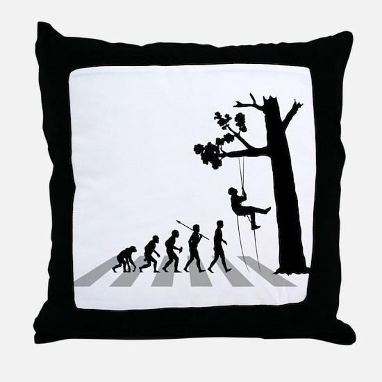Tree Climbing Throw Pillow