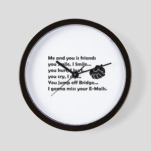 Friends funny Wall Clock