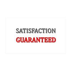 Satisfaction Guaranteed Shirt 35x21 Wall Decal