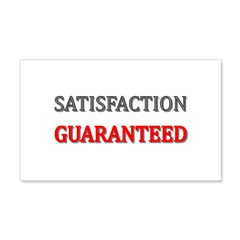 Satisfaction Guaranteed Shirt 20x12 Wall Decal