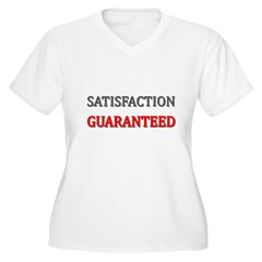 Satisfaction Guaranteed Shirt Women's Plus Size V-