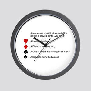 Funny women quotes Wall Clock