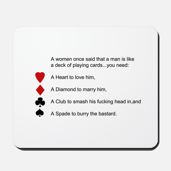 Funny women quotes Mousepad