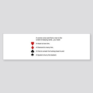 Funny women quotes Sticker (Bumper)