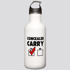Concealed Carry YES Stainless Water Bottle 1.0L