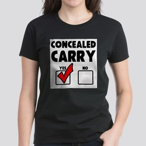 Concealed Carry YES Women's Dark T-Shirt