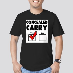 Concealed Carry YES Men's Fitted T-Shirt (dark)