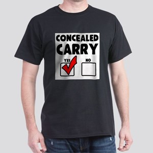 Concealed Carry YES Dark T-Shirt