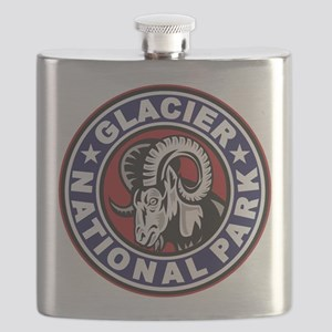 Glacier Red White & Blue Circle Flask