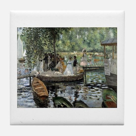 Pierre-Auguste Renoir La Grenouillere Tile Coaster