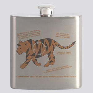 Tiger Facts Flask