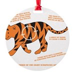 Tiger Facts Round Ornament