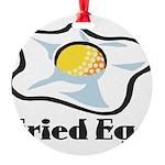 Fried Egg Round Ornament