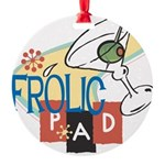 FrolicPad10 Round Ornament