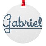 Gabriel10x8 Round Ornament