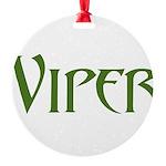 Viper Black T-Shirt Round Ornament
