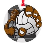 Apex Volleyball Round Ornament