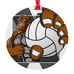 Apex Volleyball Round Ornament