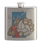Bucks County Volleyball Flask
