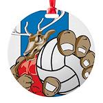 Bucks County Volleyball Round Ornament