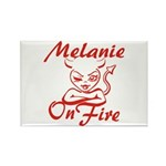 Melanie On Fire Rectangle Magnet