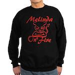 Melinda On Fire Sweatshirt (dark)