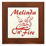 Melinda On Fire Framed Tile